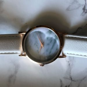 Never worn marble and rose gold watch